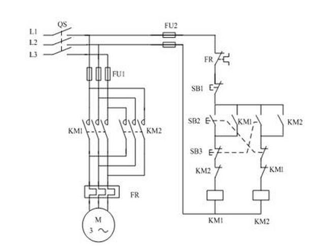 5,画出电动机正反转控制回路原理图