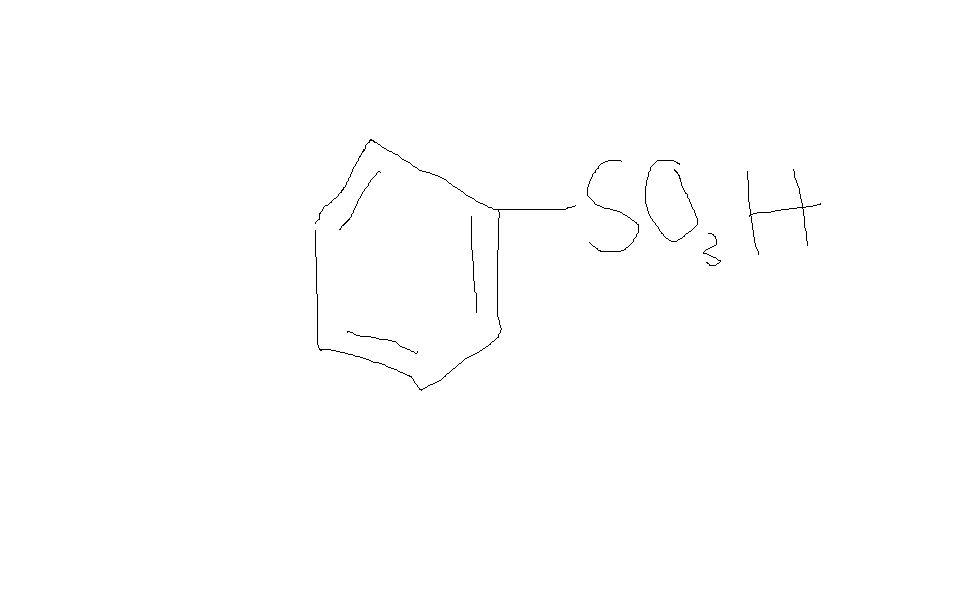 苯磺酸的结构式