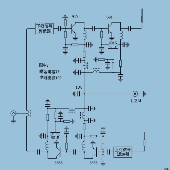 求助解电路图,是一个信号放大器的