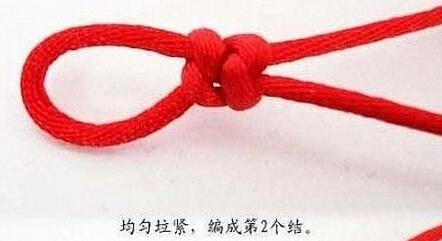 编红绳手链编法图解怎样打金刚结