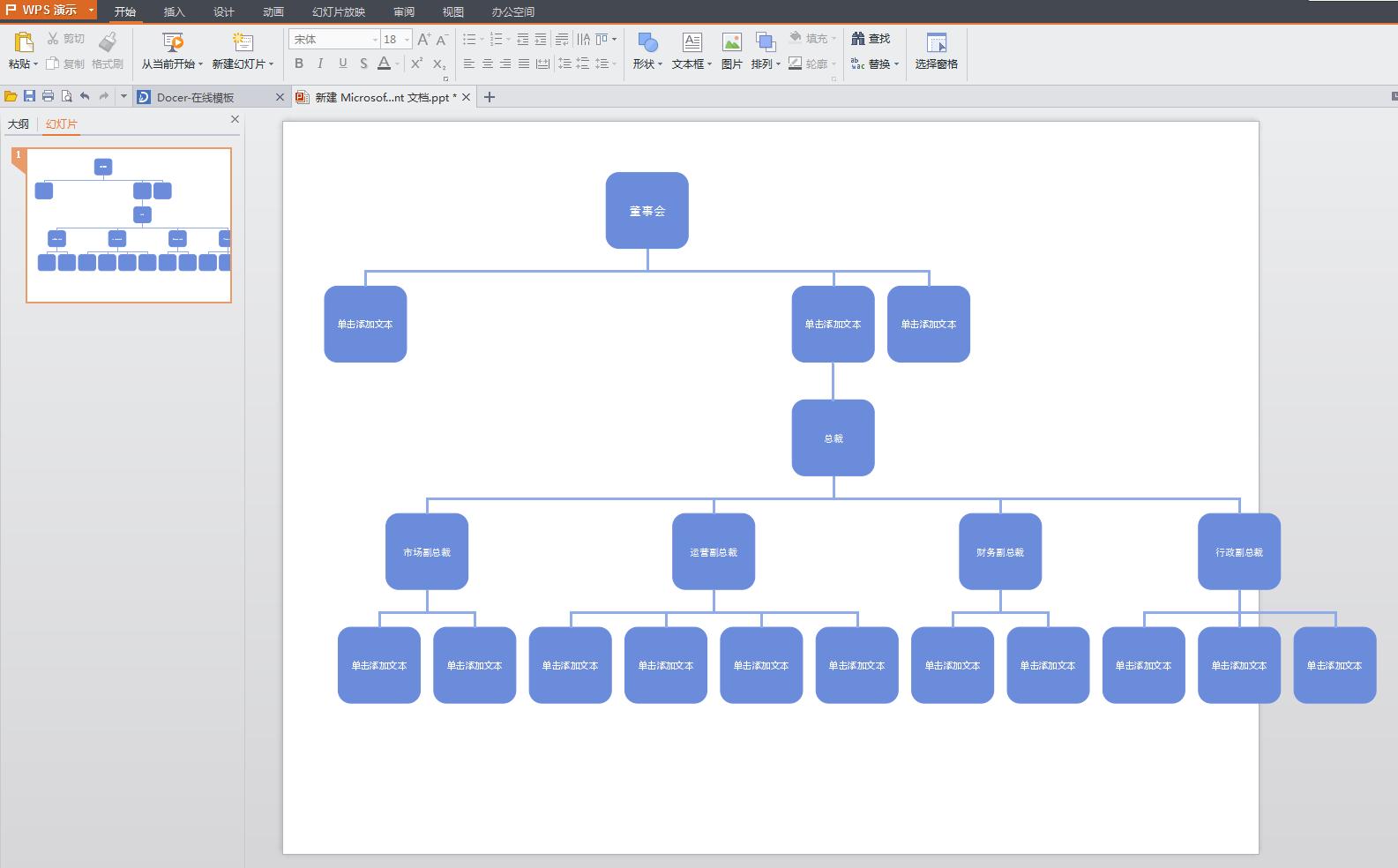 wps ppt中制作组织架构图,怎么让平级居中对齐,我做出来后如图,不美观