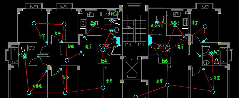 如图:电器安装图纸 一条电线中间有三条斜杠是什么意思图片