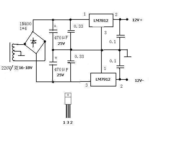 谁能给我发一个制作正负12v,正负5v直流稳压电源的电路图啊,邮箱:cyz
