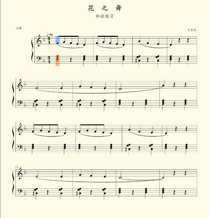 钢琴曲《花之舞》谱子谁有啊,五线谱和简谱都行,最好是简谱,我可以先