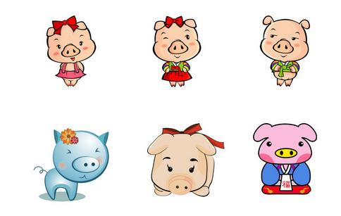 怎样画猪的图片图片