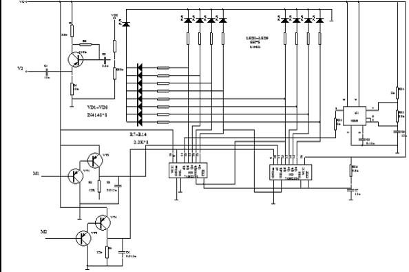 电路可由触摸电路,振荡器灯组成.