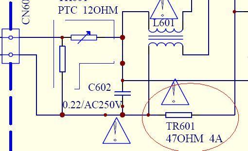创维21tm9000电路图中tr601是什么元件