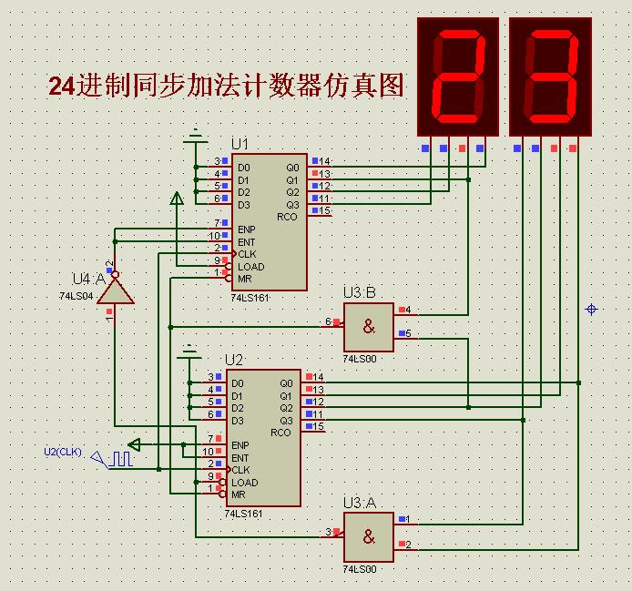 74ls161做成24进制计数器接线图电路图!急
