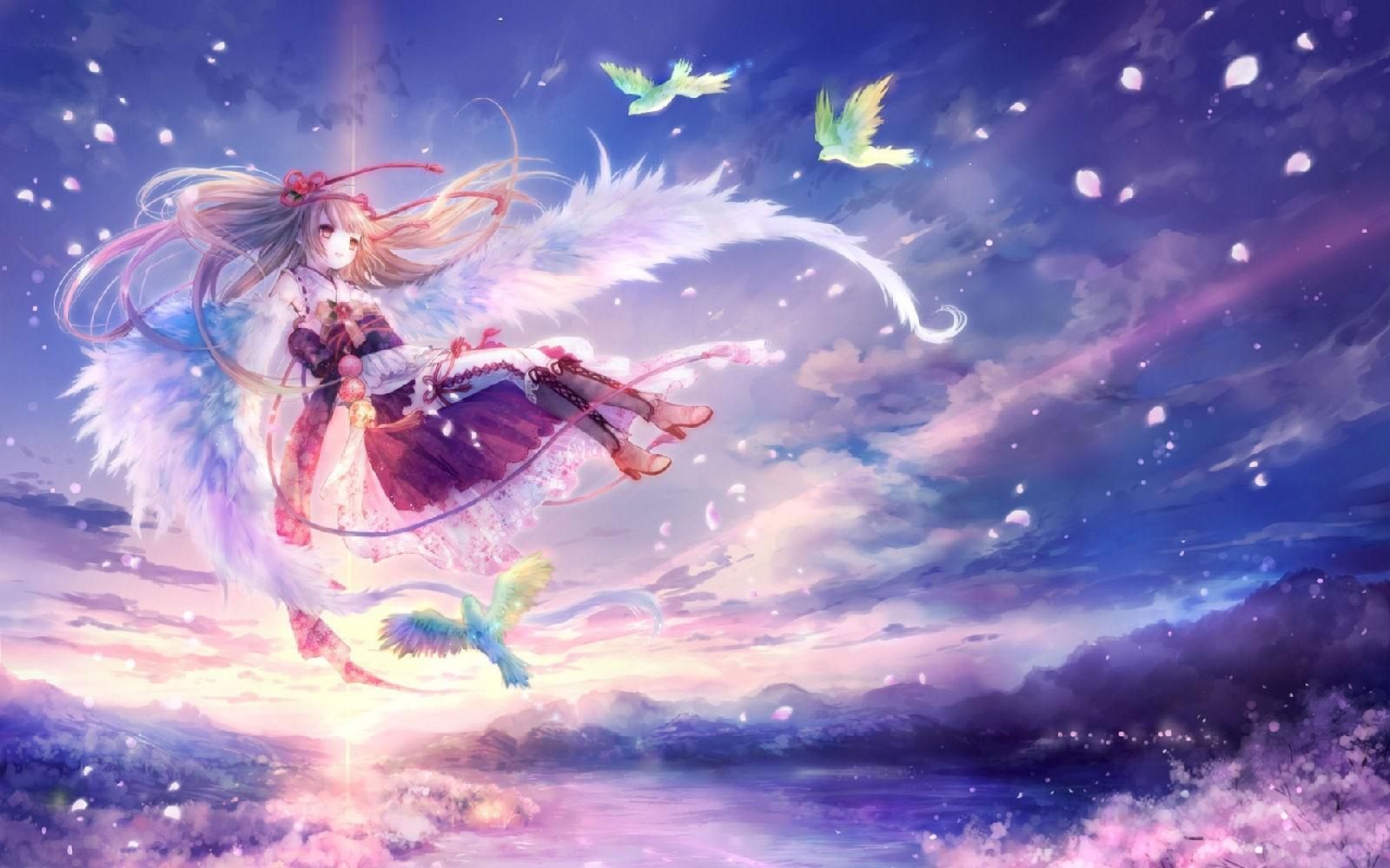 求几张带天使翅膀的动漫mm图片~本人做绘画用~清楚一些的·不要抛光