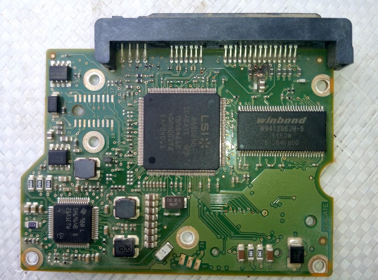希捷500g硬盘电路板上的电阻烧了?