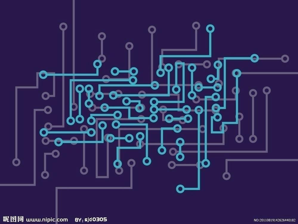 要求科技感,颜色稍微亮一点,素材最好用这几张图,要求体现集成电路