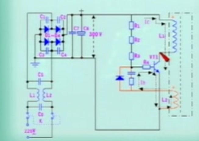 这个电路图怎么判断两个线圈的自感电动势的方向?