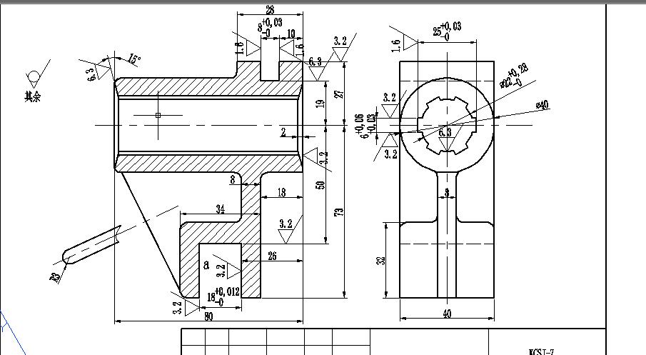 花键加工工序中使用专用夹具的cad装配图,零件图,792148564,@qq.图片
