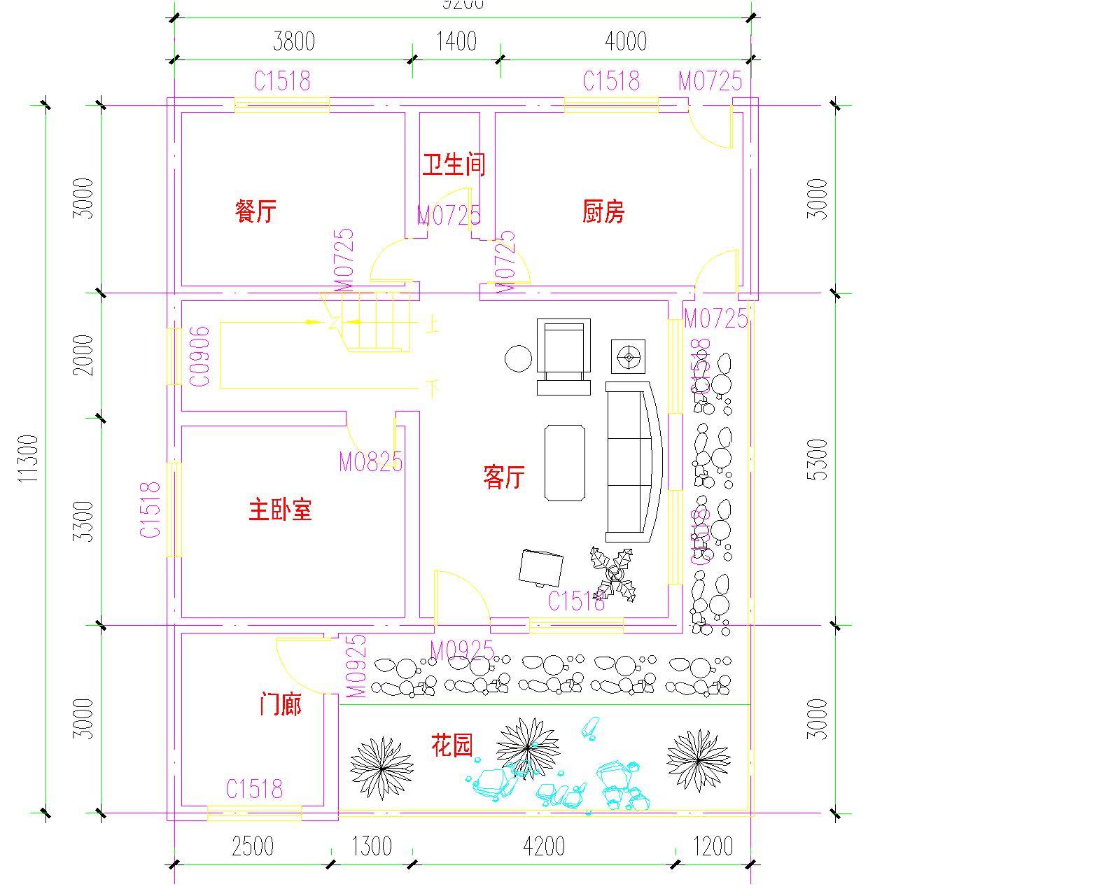求农村房屋平面设计图