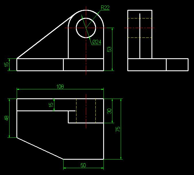 机械制图习题集,组合体三视图怎么画.图片