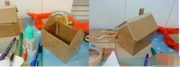 纸皮船的手工制作图解