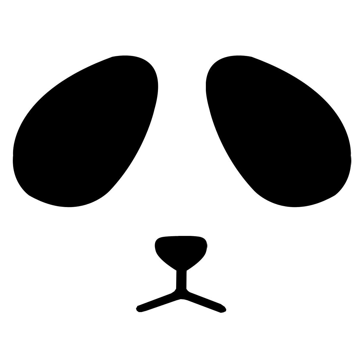 卡通动漫熊猫头像只要眼睛的