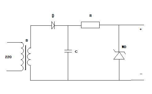 求一个简单电源的电路原理图 能看清元器件的