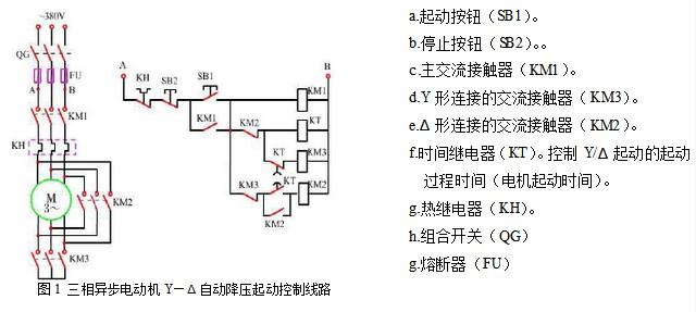 画出一台电动机星三角降压起动控制线路图