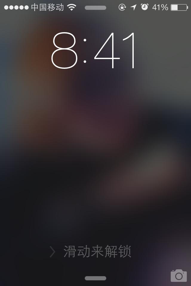 苹果手机锁定屏幕照片图片模糊了怎么回事?