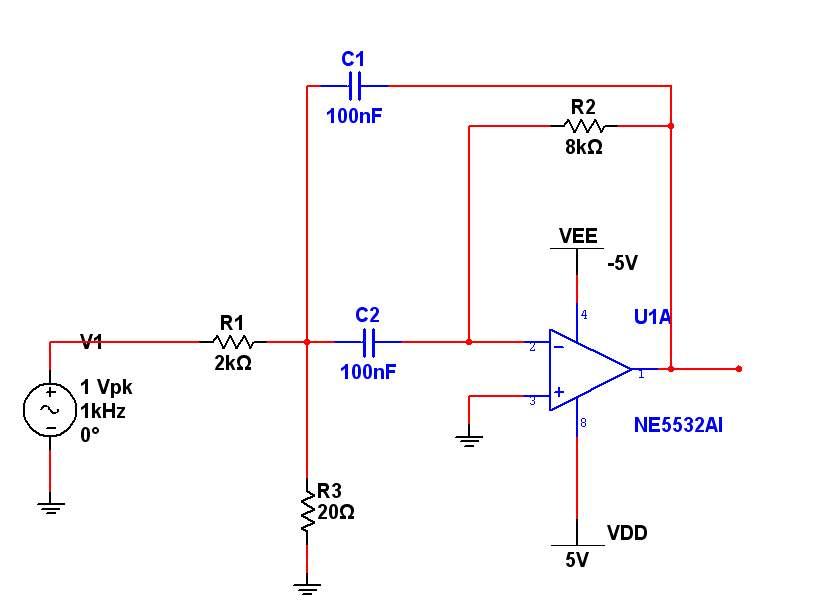 带通滤波芯片及电路图