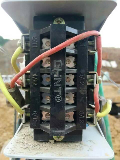 一台单相双电容电机,用倒顺开关控制,现在需要改成按钮开关,求线路接