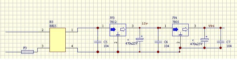 求教:15v转变为5v的电路图及其原理