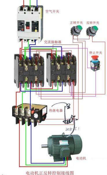 展开全部 三相电动机正反转接触器互锁实物接线图 1 已赞过 已踩过