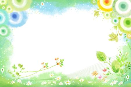 谁有关于春天的小报边框图片,要可爱的,简单点的!