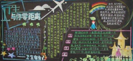 中学黑板报版面设计
