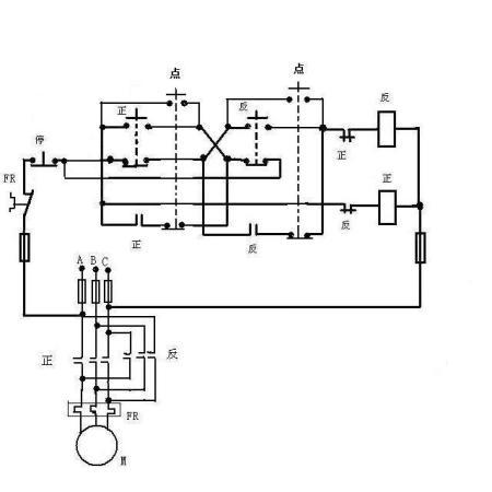 求三相异步电动机控制回路及主电路图(要正反转能点动和连续运行)