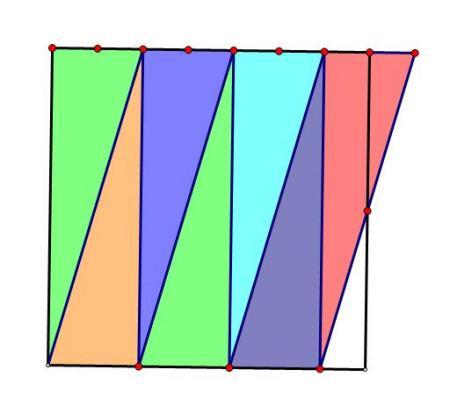 正方形怎么分成七等分的三角形求图