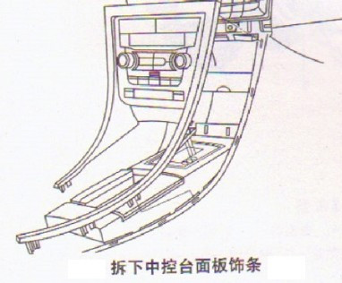 本田飞度工作台cd和空调控制面板怎么拆