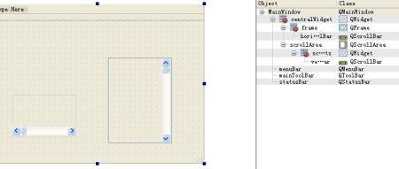 2.0 designer设计界面时,有qscrollbar这个控件吗?图片