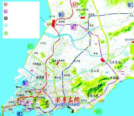青岛市1号地铁途经哪些站点