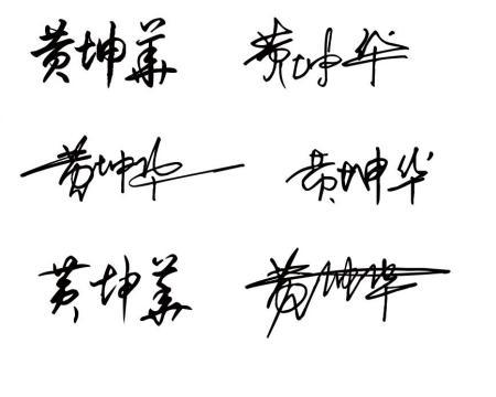 黄坤华个性签名草书
