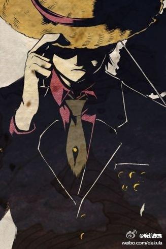 海贼王中除了路飞其他人都穿着黑色衣服拿着武器的是哪一集图片