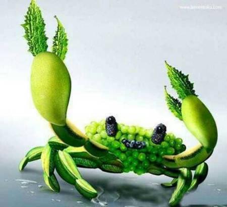 怎么用瓜果蔬菜还有牙签简单的拼小动物