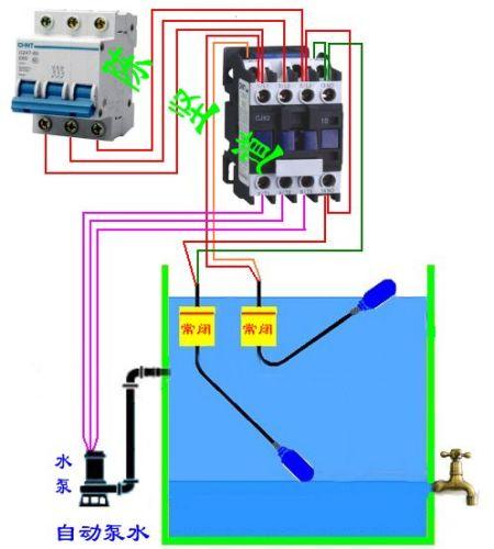 水泵正反转接线图