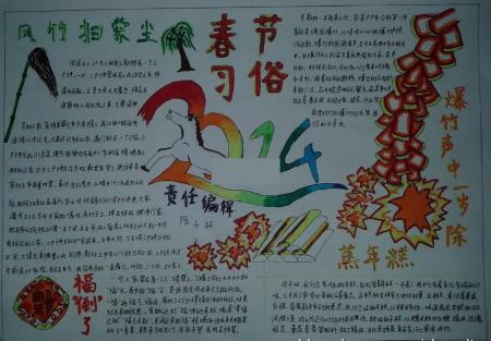 藏族春节手抄报图片图片