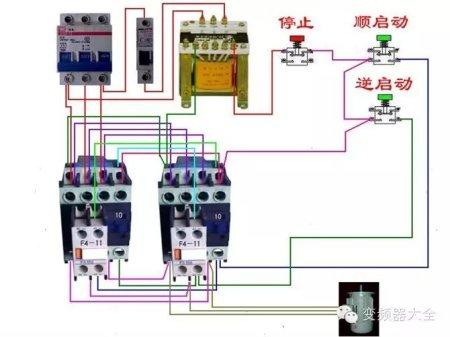 cj20一40交流接触器实物正反的接线图.