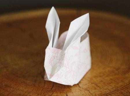 这种兔子的折法(下面有图)图片