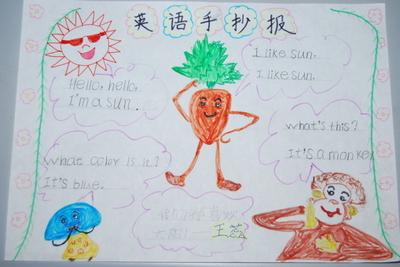 三年级上册英语知识手抄报图片大全(用汉字写的)
