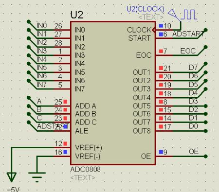 求51单片机用adc0809芯片做ad转换电路的电路图跟程序