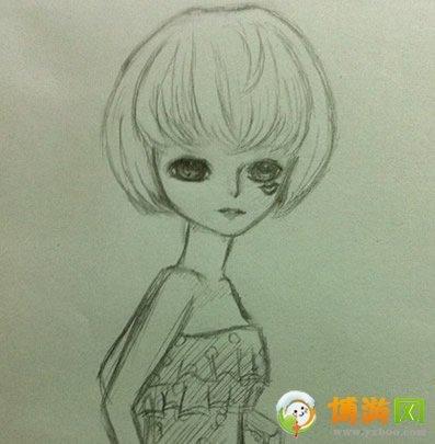 求短发女生手绘头像.动漫也可.简单点