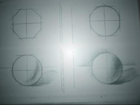 求素描画圆的详情步骤(带图)