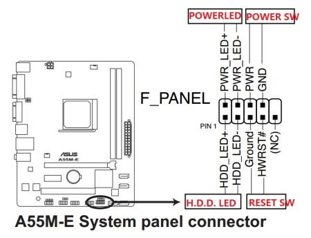 华硕a558m e主板右下角的九个针孔怎么接线?