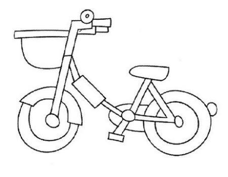 怎样画自行车图片