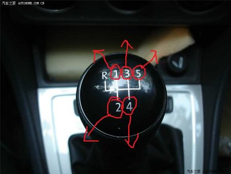朗逸手动挡的车子1234挡位只在前后两个地方吗,1234挡