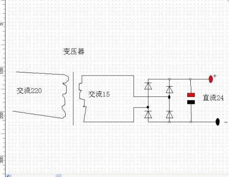 求220v交流电转24v直流电的电路图!做综保电源用的!